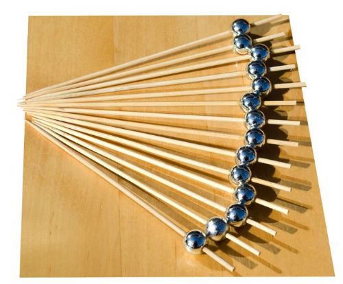 Silver Pearl wood skewer 12cm x500 – GOTO